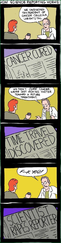 Hur vetenskapsjournalistisk fungerar (klicka för större)