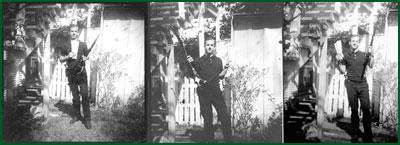 Oswald med geväret som döda Kennedy